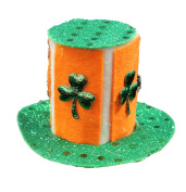 Lucky Leprechaun Mini Top Hat Saint Patrick's Day Hair Clip, One Size Fits All