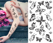 Supperb® Temporary Tattoos - Small Black Butterflies