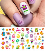Easter Nail Decals Assortment #2 Water Slide Nail Art Decals - Salon Quality 14cm X 7.6cm Sheet!