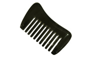 Hron Comb Beard Comb Wide Tooth Handmade Buffalo Horn Pocket Comb - HC012