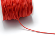 80ft (24.4m) (26.7 yards) 1mm Elastic Cords in Red, Stretchable Cord, Spooled, Beading String for Beads #SD-S7354