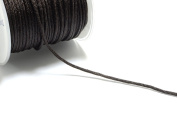 30m (98.4ft) (32.8 yards) 1.5mm Nylon Cords in Brown, Chinese Knotting Cord, Spooled, Beading String for Beads #SD-S7755
