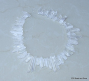Thin Raw Rough Quartz. Full Strand - Raw Quartz Crystal Points - Natural Quartz Points - Random Lengths - 15mm - 35mm