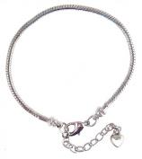 European 20cm Snake Chain Starter Bracelet for Large Hole Beads ~ Twist Off End