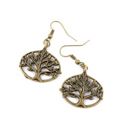 2 Pairs Earring Jewellery Making Charms Antique Bronze Findings Hooks Supplies Wholesale Supply Handmade D5XK3 Life String Tree Oak