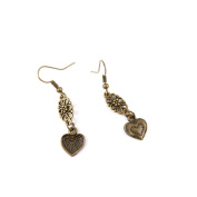 1 Pair Earring Jewellery Making Charms Antique Bronze Findings Hooks Supplies Wholesale Supply Handmade W8UR5 Small Hearts