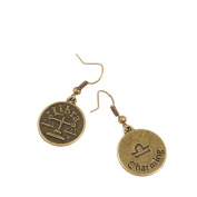2 Pairs Earring Jewellery Making Charms Antique Bronze Findings Hooks Supplies Wholesale Supply Handmade R6WW3 Libra
