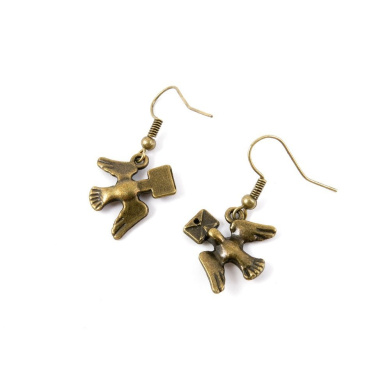 1 Pair Earring Jewellery Making Charms Antique Bronze Findings Hooks Supplies Wholesale Supply Handmade P9JE3 Pigeon