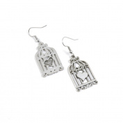 100 Pairs Jewellery Making Antique Silver Tone Earring Supplies Hooks Findings Charms J1IG1 Bird Cage Birdcage