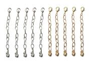 Necklace-Bracelet 5.1cm Extenders 10 Piece Silver & Gold Tone ~ 5 Pieces Each Colour