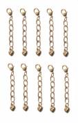 Necklace-Bracelet 2.5cm Extenders 10 Piece Gold Tone