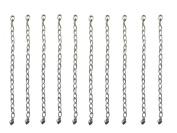 Necklace-Bracelet 10cm Extenders 10 Piece Silver Tone