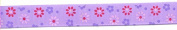 Grosgrain Lavender Floral Ribbon #1
