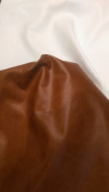 Brown leather piece cutting 30cm square Two Tone Soft Handbag garment Italian Cowhide Genuine Leather Hide Skin NAT Leathers