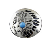 Screw Eye - Steel Turquoise Tribal Metal Round Concho Biker Vintage Decorative Button Screw Back