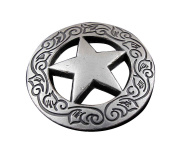 Screw Eye - Steel Western Biker Vintage Texas Star Metal Coin Concho Button Screw Back