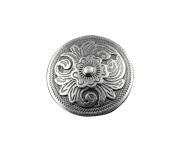 Screw-eye Silver Colour Western Flower Metal Button Concho Bag Belt Wallet Leathercraft