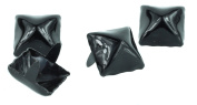 Black 1.3cm Pyramid Stud Punk Goth Craft Rivet DYI