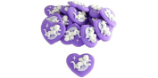 Cameo Heart Angel Light Purple 20 pieces for the Deco 23 ~ 22‡o SA-P866