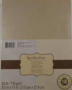 Recollections Cardstock Paper, 2 Colours, Shimmer Silver and Champagne, 100 Sheets, 22cm X 28cm Metallic