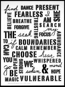 23cm x 30cm Uplifting Words Stencil by Carolyn Dube