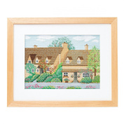 Orimupasu cross stitch embroidery kit Four Seasons Cotswolds spring off-white 7174