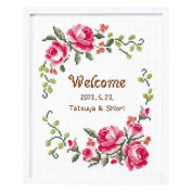 Orimupasu cross stitch embroidery kit Rose welcome board 7428 Grace full Rose