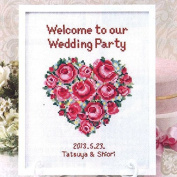 Orimupasu cross stitch embroidery kit Rose welcome board 7429 Heart Rose