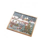 Orimupasu cross stitch embroidery kit Shikisai of poetry Christmas Eve off-white 7110