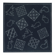 Orimupasu needlework kit multi cross rabbit and traditional pattern SK314