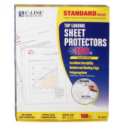 C-Line Top Loading Standard Weight Poly Sheet Protectors, Clear, 22cm x 28cm , 100 per Box