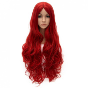 "32"" 80cm Women Wig Heat Resistant Long Curly Hair Cosplay Party Costume Wig No Bangs"