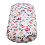 Charminer Protable Floral Sunglasses Hard Eye Glasses Case Eyewear Protector Box Pouch Bag Beige 16 x 6 x 3.5cm