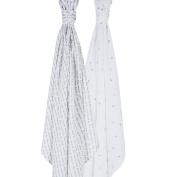 Bebe au Lait Premium Muslin Swaddle Blanket Set, Love and Luna