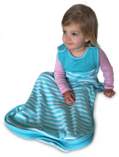 Baby Sleep Sack by Antipodes Merino, wool sleeping bag for winter & summer, Large size for infants & toddlers 0-24m+, Turquoise