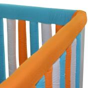 Go Mama Go Designs' Set of Orange & Aqua 80cm x 30cm Reversible Teething Guard