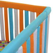 Go Mama Go Designs' Orange & Aqua 130cm x 30cm Reversible Teething Guard
