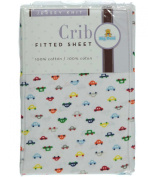 Big Oshi Fitted Crib Sheet - white/red, one size