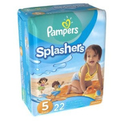 Pampers Splashers Swim Nappies Size 5 22 ea pack of 2