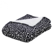 Super Soft Baby Blankets with Sherpa Reverse- Leopard Prints-Grey Spots