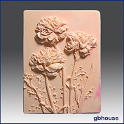 Carnation Garden - Detail of High Relief Sculpture - Silicone Soap/polymer/clay/cold Porcelain Mould