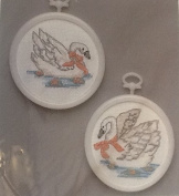 Swans Pairs Golden Bee Counted Cross Stitch Kit 60292