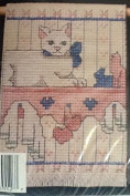 Cat on Shelf - French Country Cross Stitch Kit 076012