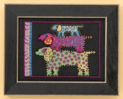 Dog Pyramid - Dogs Collection (Linen) Cross Stitch Kit