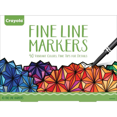 . Adult Fine Line Markers - 40 Count