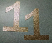 Large Gold Glitter Number 1 - Baby's First Birthday