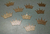 Gold Glitter Crown Die Cuts