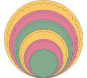 Cheery Lynn Designs XM5 Scalloped Circle Scrapbooking Die Cut