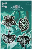 Lin & Lene Designs Leaves - Set of 4 Dies for Cutting and Embossing 1201-0028