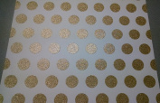 12x12 Cardstock Papers - Glitter Gold Polka Dots - 2pcs